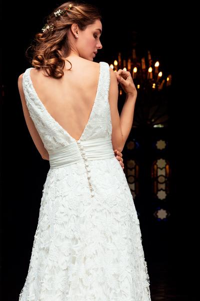 vestido de novia de macrame