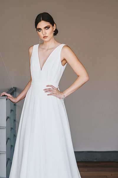 Vestido de novia de gasa
