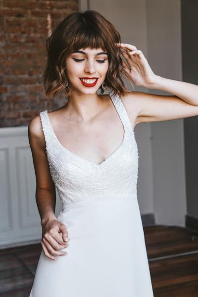 Vestido de novia imperio