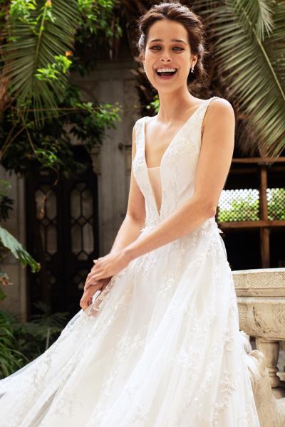 vestido de novia escote ilusion